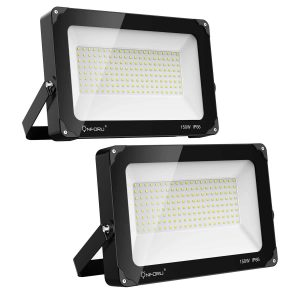 On four 2 Pack, 150W LED Flood Light