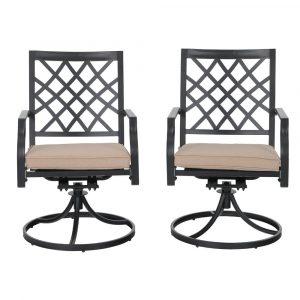 PHI VILLA Outdoor Patio Swivel Chair
