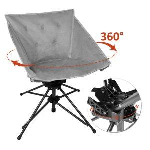 Zenree Folding Outdoor Swivel Chair