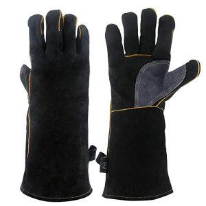 KIM YUAN Heat and Fire Resistant Leather with Kevlar Stitching Gloves