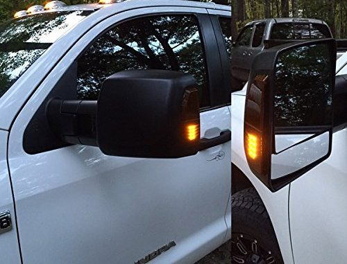 Ford 99-07 Super Duty F250+F350+450 W//Turn Signal HOLE Gloss Black Mirror Cover