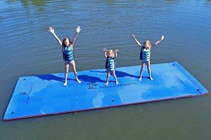 Island Hopper Floating Water Mat - Mesh Reinforced