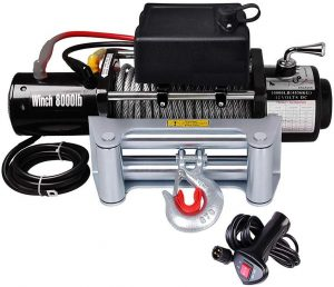 Yescom Electric Winch 8000 lbs. with Handheld Remote Switch