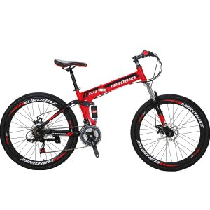 Eurobike 26-inches full-suspension foldable mountain bicycle