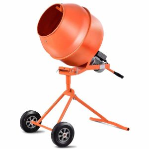 Goplus 1/2HP Electric Portable Barrow Concrete Cement Mixer (5 Cu.Ft.)