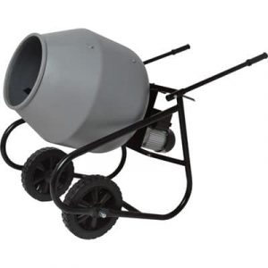 Klutch Portable 2 Cubic Ft. Electric Cement Mixer