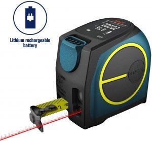 MEAS Laser Tape Measure 2-in-1