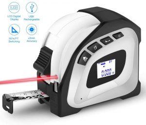 Seesii Laser Tape Measure 2-in-1
