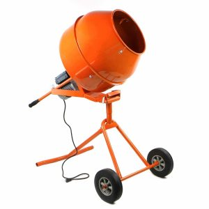 Stark Portable 5 Cu Ft 1/2 HP Electric Cement Mixer with Wheel