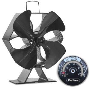 VonHaus Large 4 Blade Wood Stove Eco Fan