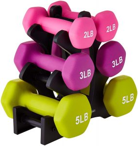 AmazonBasics Neoprene Dumbbell Sets