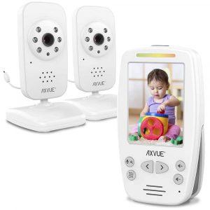 Axvue Video Baby Monitor Model E662 w/ 2 Cameras