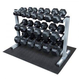 Body-Solid 3-Tier Horizontal Dumbbell Rack