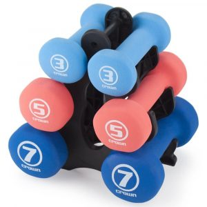 Crown Sporting 3 Pairs of Dumbbell Set with Stand