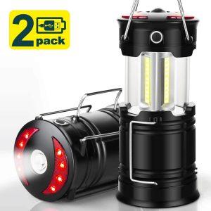 EZORKAS 2 Pack Camping Lanterns