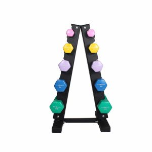 Republic Fitness Vinyl Dumbbell Set with Rack