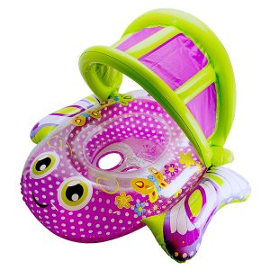 SwimSchool Bouncing Extra-Wide Butterfly Baby Pool Float