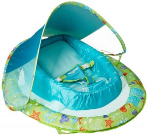 SwimWays Infant Spring Float with Adjustable Canopy - Green