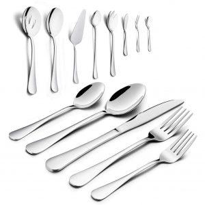 HaWare 68-Piece Stainless Steel Silverware Set