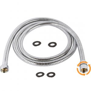 TRIPHIL Kink-free Extra-long Shower Hoses with 2 Brass Connectors-98 Inches