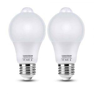 CANAGROW A60 Motion Sensor Light Bulbs
