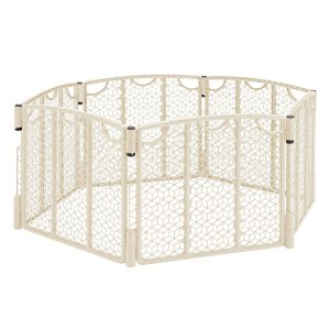 Evenflo Versatile Indoor and Outdoor Play Space for 6 to 24 Children, Cream