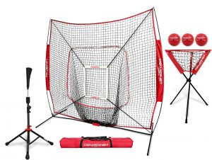 PowerNet 7x7 DLX Practicing Net with Deluxe Tee