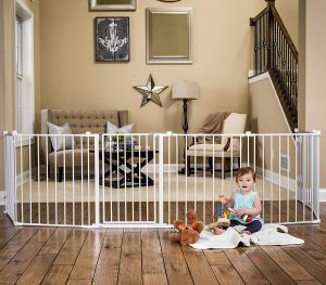 Regalo 192-Inch Adjustable Super Wide Play Yard with Baby Gate