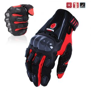 SCOYCO Hard Knuckle Breathable, Waterproof Men's Gloves Black