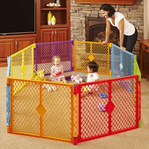 Toddleroo by North States 8-Panel Play Yard Superyard Colorplay Freestanding enclosure