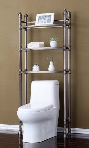 Best Living Etagere Shelf Monaco Over-The-Toilet Bamboo Storage Cabinet