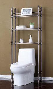 Best Living Etagere Shelf Monaco Over-The-Toilet Bamboo Storage Cabinet