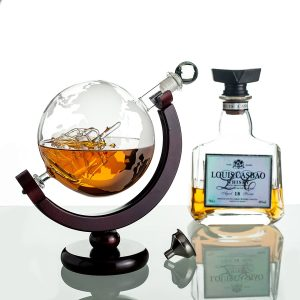 ERAVINO Whiskey Globe Decanter