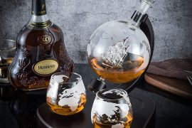 Globe Whiskey Decanter