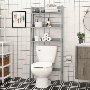 UTEX 3-Shelf Over The Toilet Bathroom storage