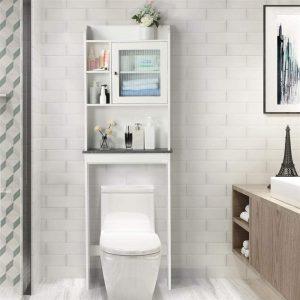 Yaheetech Free-Standing Over The Toilet Storage Cabinet