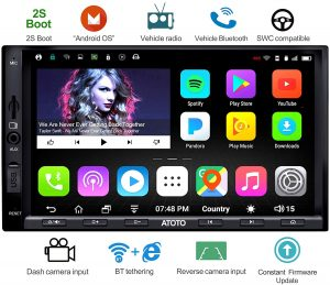 Atoto A6 2din Android Car Stereo Navigation with dual Bluetooth