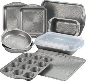 Circulon 46847 Total Nonstick 10 Piece Bakeware Set, Gray