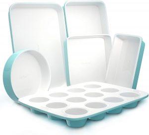 Nutrichef NCBK6CT5 6-Pcs Non-Stick Kitchen Quality Kitchenware Baking Pans