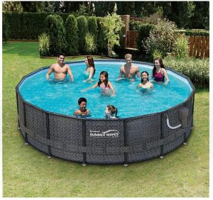 Summer Waves Elite above-Ground Frame Pool Set with Filter Pump