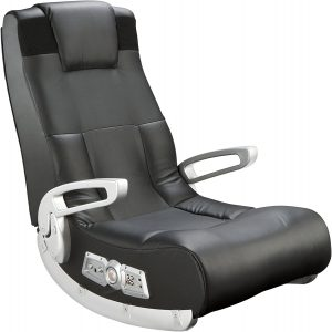 Ace Bayou X Rocker II SE 2.1 Black Leather Floor Gaming Chair