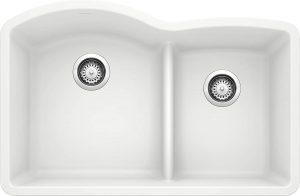BLANCO, White 32 X 21 inches 441593 SILGRANIT Double Bowl Kitchen Sink