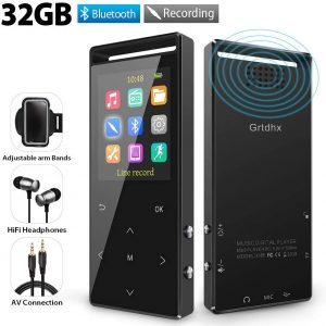 Grtdhx 32GB MP3 Players w/ Bluetooth