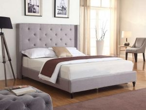HomeLife Premiere Classic Light Grey Silver Bedroom Set