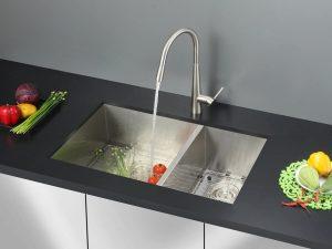 Ruvati Undermount 29-inch Double Bowl 16 Gauge RVH7200 Stainless Steel Kitchen Sink