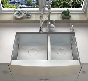 ZUHNE 33-Inch 16-Gauge Stainless Steel Kitchen Sink