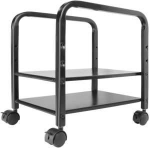 360Tronics Adjustable 2-Tier Computer Tower Stand with Locking Wheels