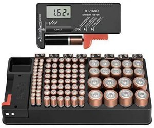 ANLIZN Storage Organizer and Battery Tester for All Batteries