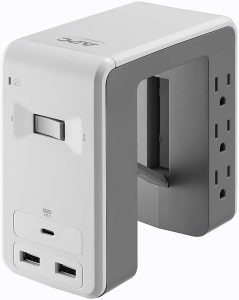 APC Desk Mount Surge Protector with 3 USB Ports, 1080 Joules