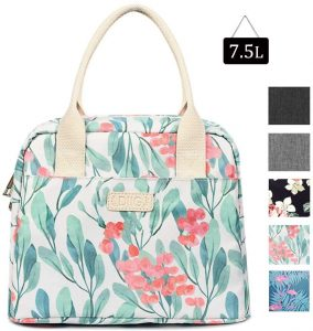 DIIG Flower Large Insulated Freezable Lunch Bags